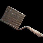 Vintage Sterling Cake Breaker Comb Silver Handle Chromed Tines