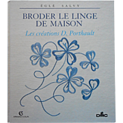 French Book Porthault Broderie De Linge De Maison Embroidery Monograms Patterns