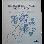 French Book Porthault Broderie De Linge De Maison Embroidery Monograms Patterns