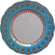 Royl Standard Tea Plate Turquoise Gold White Vintage Bone China