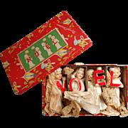 Vintage Relco Set NOEL China Candelsticks Angels Japan Figurine Original Box