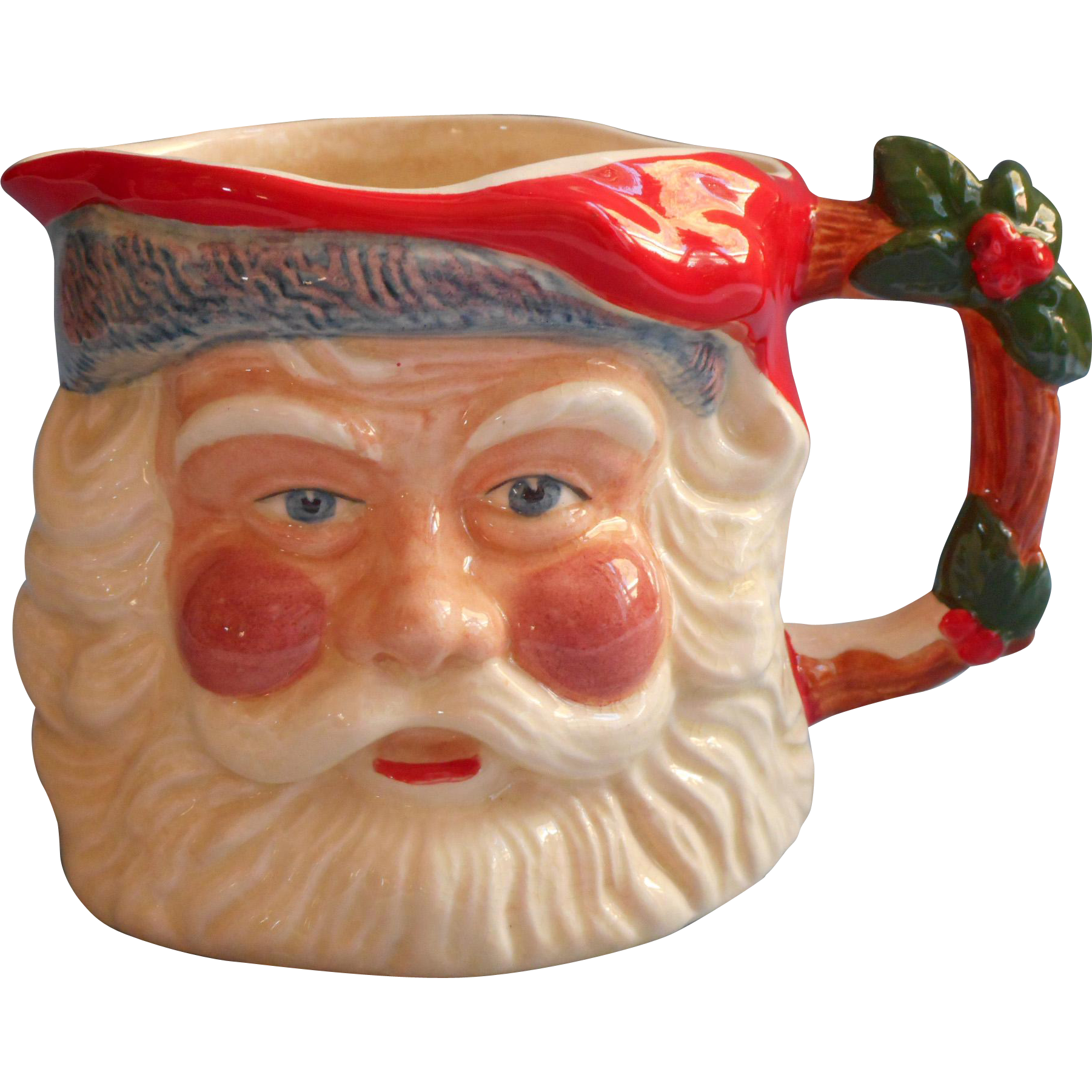 vintage staffordhsire england pottery santa christmas mug