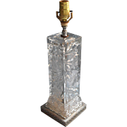 Large Vintage Lamp Made From Antique EAPG Glass Square Vase