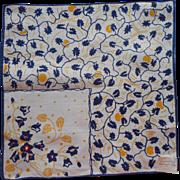 Vintage 1930s Hankie Art Deco Linen Print Embroidery Graduation Gift