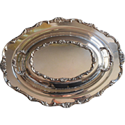 Vintage Serving Dish Covered Convertible Lid Silver Plated Wellington Pattern Wm. Rogers