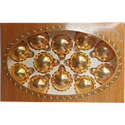 Krebs Vintage All Gold Original Box Christmas Ornaments Glass