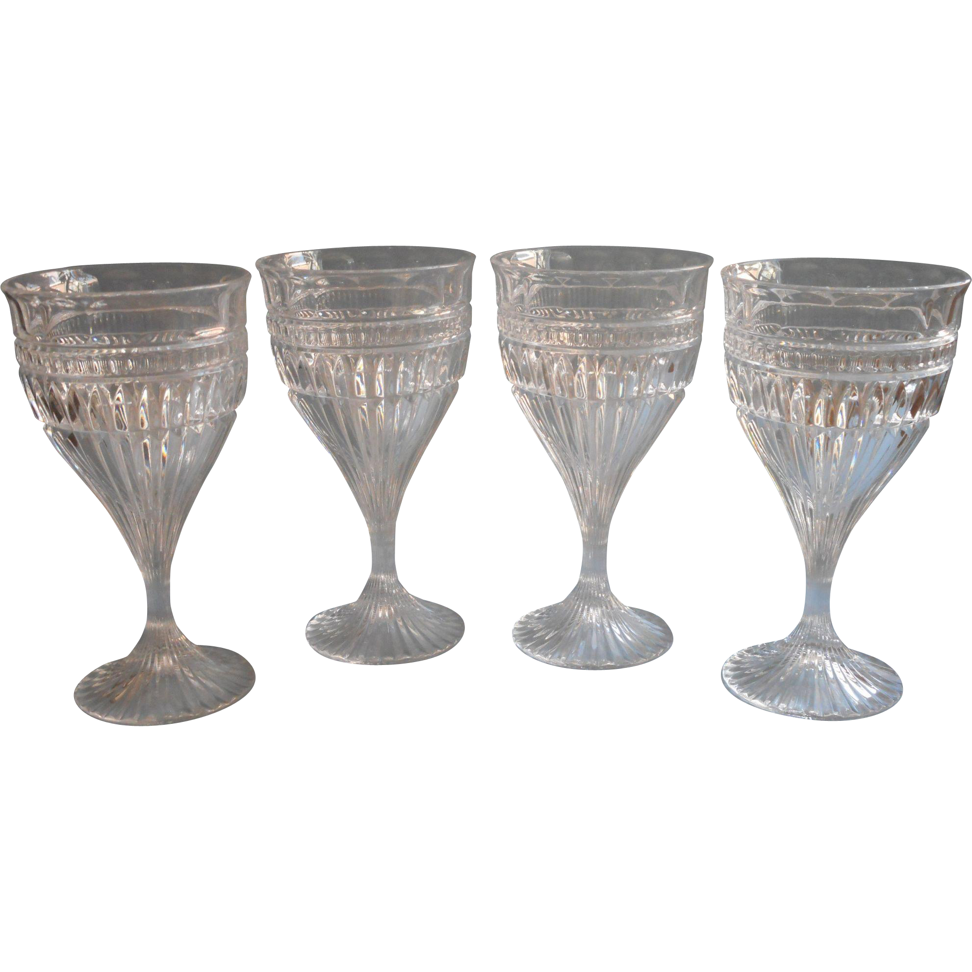 mikasa titan 4 goblets wine or water glasses crystal - Water Goblets