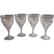 Mikasa Titan 4 Goblets Wine Or Water Glasses Crystal