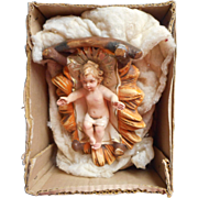Vintage Fontanini Jesus In Manger 12 Inch Scale Original Box