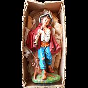 Vintage Fontanini Daniel w Horn 12 Inch Scale Original Box
