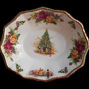 Royal Albert Christmas Magic Lemon Sweetmeats Trinket Dish Vintage English Bone China