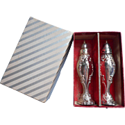 Chatelaine Shakers Vintage Silver Plated Wm. A. Rogers Original Box Midcentury