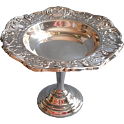 Wallace Grand Victorian Candy Compote Predestal Vintage Silver Plated