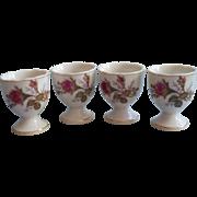 Egg Cups Moss Rose Japan Vintage China Midcentury