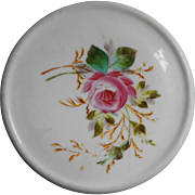 Tea Trivet Antique China Hand Painted Rose