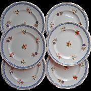 Wedgwood Lowestoft 6 Salad Plates Vintage China