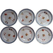 Wedgwood Lowestoft 6 Bread Plates Vintage China