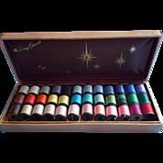 Vintage Belding Corticelli Dressmaker Sewing Thread Set Boxed Wooden Spools