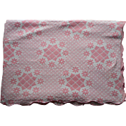 1910s to 1930s Coverlet Pink And White Cotton Cottage Charming A Bit Shabby