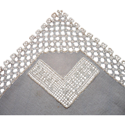 Lace Hankie Souvenir Fayal Azores Portugal Vintage Silk Handmade
