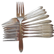 1930 Dessert Forks Salad Vintage Silver Plated Belford Newport 11