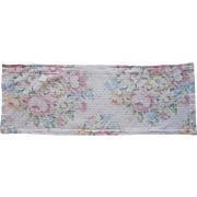 Barkcloth Valance Vintage Pale Pink Blue Green Small Bark Cloth Fabric