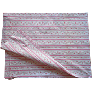 Vintage Fabric Pink Wallpaper Stripe Cotton Popular Pillow Protector Ribbons Roses Print