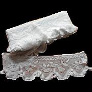 Deep Antique Filet Crocheted Lace Edging Tassels Bird On Nest Motifs 14 Yards