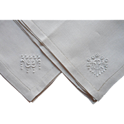 2 Arts Crafts Transitional Art Nouveau Gentleman's Hankies Handkerchiefs Unused