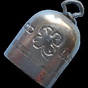 Bell Of Capri WWII Vintage Good Luck Charm Aviator Lucky Little Bell