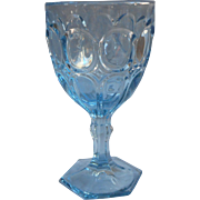 Fostoria Moonstone Blue Vintage Water Goblet 8 Ounce Wine 6.5 Inch