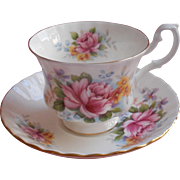 Royal Albert Chirton English Bone China Cup Saucer Summertime Series