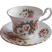 Royal Albert Woodborough English Bone China Cup Saucer Summertime Series