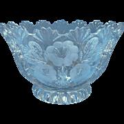 Vintage Crystal Bowl European Pressed Wheel Cut Flowers May Be Hofbauer