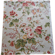 Greef Salisbury Schumacher Vintage Fabric Yardage Cotton Chintz
