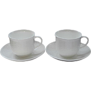 Wedgwood Nantucket 2 Cups 2 Saucers