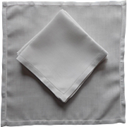 1920s Breakfast Napkins Simple Classic Hemstitched Linen 6