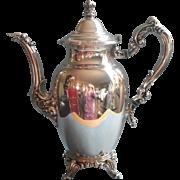 Royal Provincial Coffee Pot Vintage Oneida Silver Plated Needs Handle Repair
