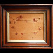 Antique Walnut Picture Frame Gilt Ebonized Accents