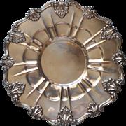 Antique Silver On Copper Ornate Handsome Heavy Sandwich Tray Randolph
