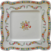 Antique Minton Square Cake Dessert Serving Plate English China Mintons