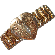 Sweetheart Heart Expansion Bracelet Vintage Co Star