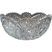Cut Glass Fruit Bowl Classic Heavy Crystal