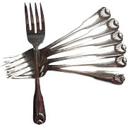 Tudor Stainless Steel Vintage Salad Forks Oneida Deluxe