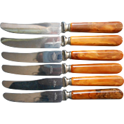 Child's Bakelite Handles Knives Toy Set 6