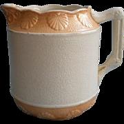 Salt Glaze Pitcher Antique Luster Glaze Shell Motif Decoration