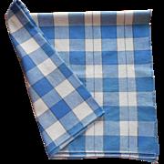 Vintage Tablecloth Blue Plaid Kitchen Picnic TLC