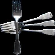 American Colonial Oneida Vintage Stainless Steel 4 Salad Forks