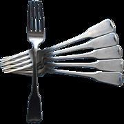 American Colonial Oneida Vintage Stainless Steel 6 Dinner Forks