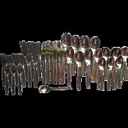 Vintage Midcentury Stainless Steel Flatware Partial Set 40 Pieces